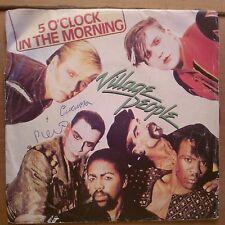DISCO 45 GIRI VILLAGE PEOPLE FOOD FIGHT 5 O' CLOCK IN THE MORNING VIP 1981 VG/VG