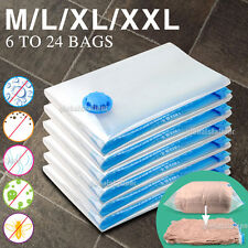 6 to 30 Vacuum Storage Bags Saver Seal Compressing Medium Large Jumbo Supersize