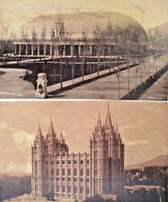 C 1880S LOT 3 ALBUMEN PHOTOS C. R. SAVAGE MORMON TEMPLE TABERNACLE 7 FALLS HOOK