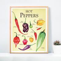 Hot Peppers/ Chilli Schoten Poster - Kunstdruck Janette - Art Print - 40 x 50 cm
