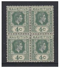 George VI (1936-1952) Mauritian Stamp Blocks