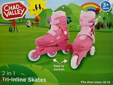 Chad Valley Tri to Inline Skates - Pink  - BNIP Trio - Girl Size 10-13