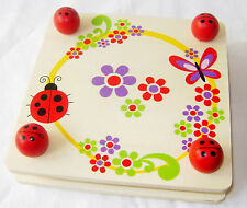 NEW WOODEN FLOWER PRESS CHILDREN'S CRAFT FOR LEAVES PETALS LADYBIRDS ACK