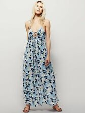 New Free People Mulberry Dress Rayon Floral Print Size L $128