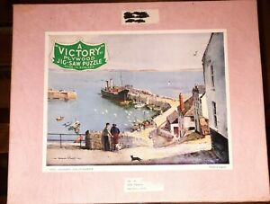 Vintage Victory Wooden Jigsaw Puzzle 500 Pc England Unloading Newlyn Harbour