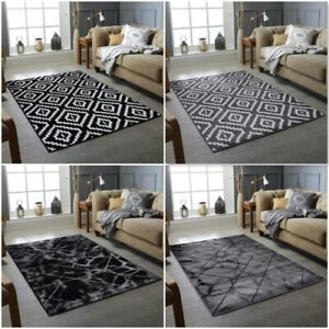 Black White Living Room Rug Small Large Bohemian Area Rugs Hall Carpet Runners