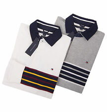 Tommy Hilfiger Men Classic Fit Long Sleeve Stripe Polo Rugby Shirt -$0 Free Ship