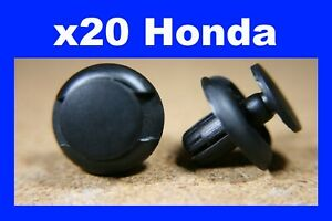20 bumper body trim wheel arch flare trim panel push fastener clips for HONDA