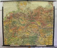 Schulwandkarte Wandkarte Deutschland Deutsches Reich v.1945 Bodennutzung 223x196