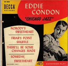 "EDDIE CONDON! - ""CHICAGO JAZZ"" DECCA ED-2053 EXT PLAY MONO 45 VG+ VPI CLEANED!"
