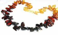 Genuine Baltic amber adult necklace, rainbow color beads 45 cm / 17.72 inch