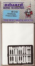 EDUARD 1/48 ETCHED DETAILS 49318 SEATBELTS FRANCE WW.I **FREE POSTAGE WITH KIT**
