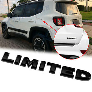 3D  Black Limited  Badge Emblem Car Fender Rear Decor Sticker for Jeep Universal