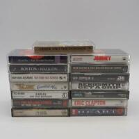 Vintage Lot of 15 1970's Rock N' Roll Music Cassette Tape Collection