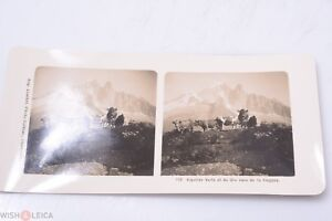 ✅ STEREO VIEW STEREOVIEWS PICTURE AUG. COUTTET CHAMONIX AIGULLIES *RARE* C. 1900