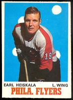 1970 71 OPC O PEE CHEE HOCKEY #193 EARL HIESKALA NM PHILADELPHIA FLYERS CARD