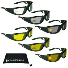 Day Night Transition Motorcycle Sunglasses Biker Goggle Lens Change Color Unisex