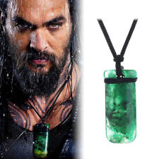 2018 Movie AQUAMAN Maori Toki Pendant Necklace Hand Carved Prop Cosplay NEW