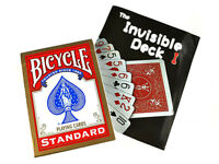 B018-1 Close-Up Magic Bicycle Invisible Deck Mind Read Mentalism Trick +DVD