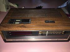 GE 7-4640d Alarm Clock Radio Flip Dial Number Woodgrain AM/FM Vintage Retro