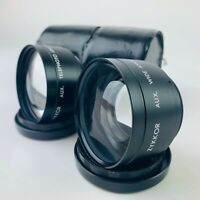 Zykkor Aux Wideangle and Telephoto Camara Lenses, Front & Rear Caps, Cases