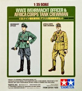 Tamiya 1/35 German Wehrmacht Officer and Africa Corps Tank Crewman 25154