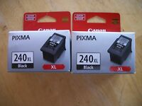 Lot of 2 Genuine Canon PG 240xl Blk Ink Cartridges # 5206B001AA PIXMA  PG-240XL