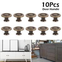 10pk Antique Pewter Effect Kitchen Cupboard Door Handle Button Knob