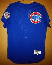 Chicago Cubs Chris Stynes Blue Alternate Game Worn Mesh Button-Down Mlb Jersey