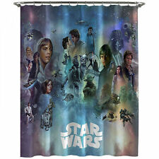 Star Wars Celebration Shower Curtain Blue