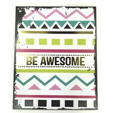 Be Awesome Wooden Shabby Chic Wall Sign Plaque Wood Home Decor Art Girls Hanger