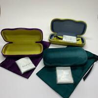 NEW AUTHENTIC GUCCI EYEGLASSES SUNGLASSES VELVET CLAMSHEL CASE POUCH CLOTH