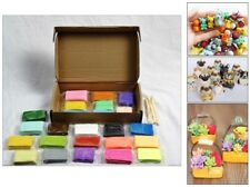 Oven Bake Polymer Clay Block Modelling Moulding Sculpey Tool 1.5KG Set 24 Colour