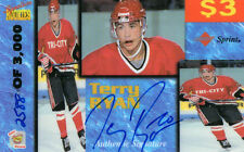 1995 SIGNATURES ROOKIES PHONEX TERRY RYAN /3000 AUTOGRAPH HOCKEY CARD