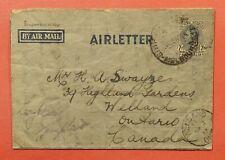 Dr Who 1947 Australia Aerogramme Melbourne To Canada C219455