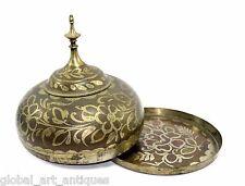 Antique Beautiful Silver Work Mughal Paan-Daan With Betel Nut Storage. G3-18