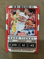 2020 Panini Contenders Draft Picks Donovan Mitchell Game Ticket Red Parallel