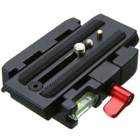Quick Release Clamp Slide Plate Adapter System fr DSLR Camera Tripod Ball Head