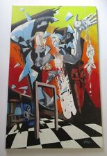 GINO SIGNED PAINTING RARE EXPRESSIONIST ABSTRACT  LARGE SURREALISM PAINTING MOD