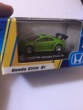 HOT WHEELS HONDA CIVIC SI GREEN 1:87/HO SCALE MINATURE W/CASE MIP NEW BOX P1720