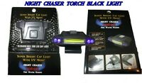 NIGHT CHASER TORCH Rechargeable Cap light with UV Black light mode LED headlamp