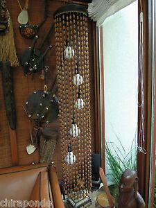 Designer Hängelampe Temde seltenes Stück Holz Perlen nur zu Dekozwecken benutzt