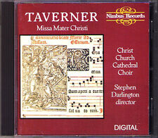 John TAVERNER 1490-1545 Missa Mater Christi STEPHEN DARLINGTON CD Christ Church