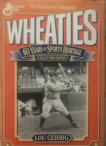 1992 Wheaties Box 60 Years of Sports Heritage Lou Gehrig (opened/empty)