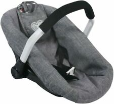 More details for bayer chic 2000. toy car seat for baby dolls, denim grey