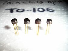 (4pcs).(Nos) Matched Fairchild 2N3646 Npn To-106 Gold Pin Transistors-Gas Sae