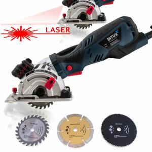 BITUXX 705W Mini Handkreissäge Tauchsäge Minisäge mit Laser inkl. 3 Sägeblätter