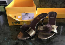 FENDI LEATHER  shoes made in italy sandali 38,5  usa 7,5-8 ITALY