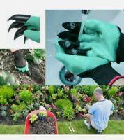 Plastic Claws 2 PAIRS Gardening Gloves Garden Gloves For Weeding Stones Digging
