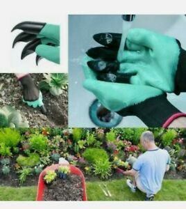 Plastic Claws Gardening Gloves Garden Gloves For Weeding Digging Stones Planting